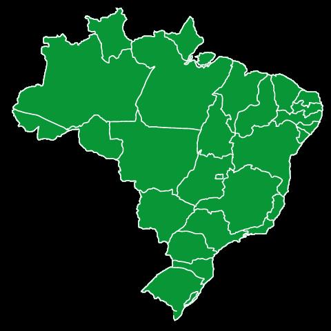 mega-sena - map of brazil
